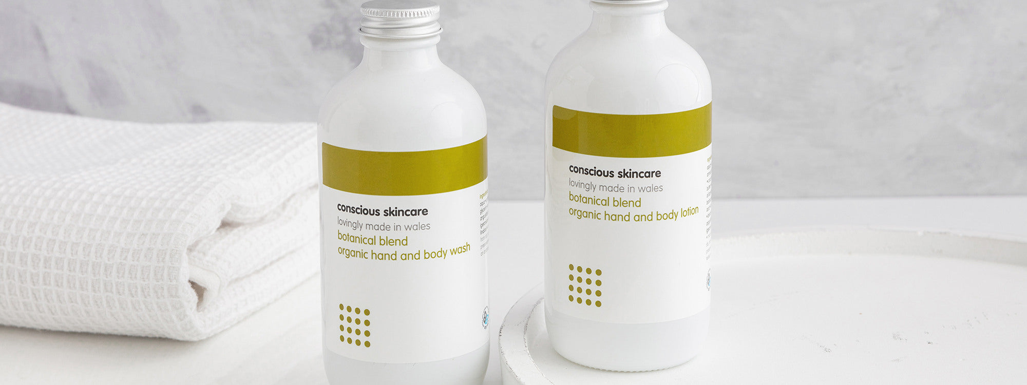 Glass Bottles - Eco Friendly Packaging from Conscious Skincare
