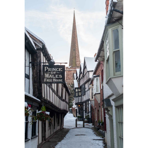 Church Lane Ledbury Wallpaper Mural | PictureThis Prints