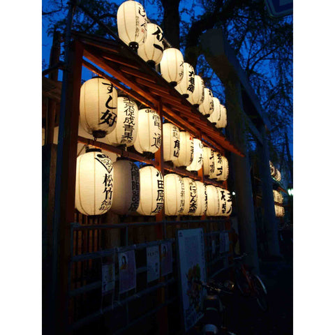 Japanese Paper Lanterns Wallpaper Mural | PictureThisPrints