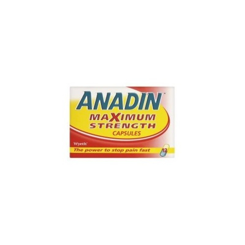 Anadin Maximum Strength Capsules 12 Pack