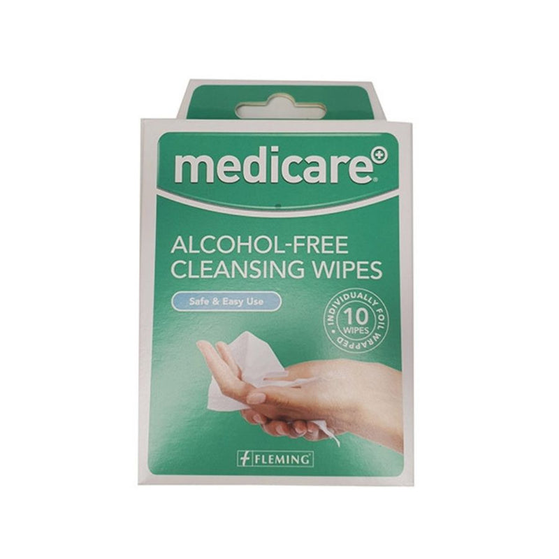 Medicare Alcohol Free Cleansing Wipes - 10 Pack