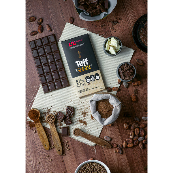 Teff Crackle 57% Dark Chocolate 90g