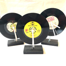 Load image into Gallery viewer, vintage 45 record clock beatles, rolling stones, the police