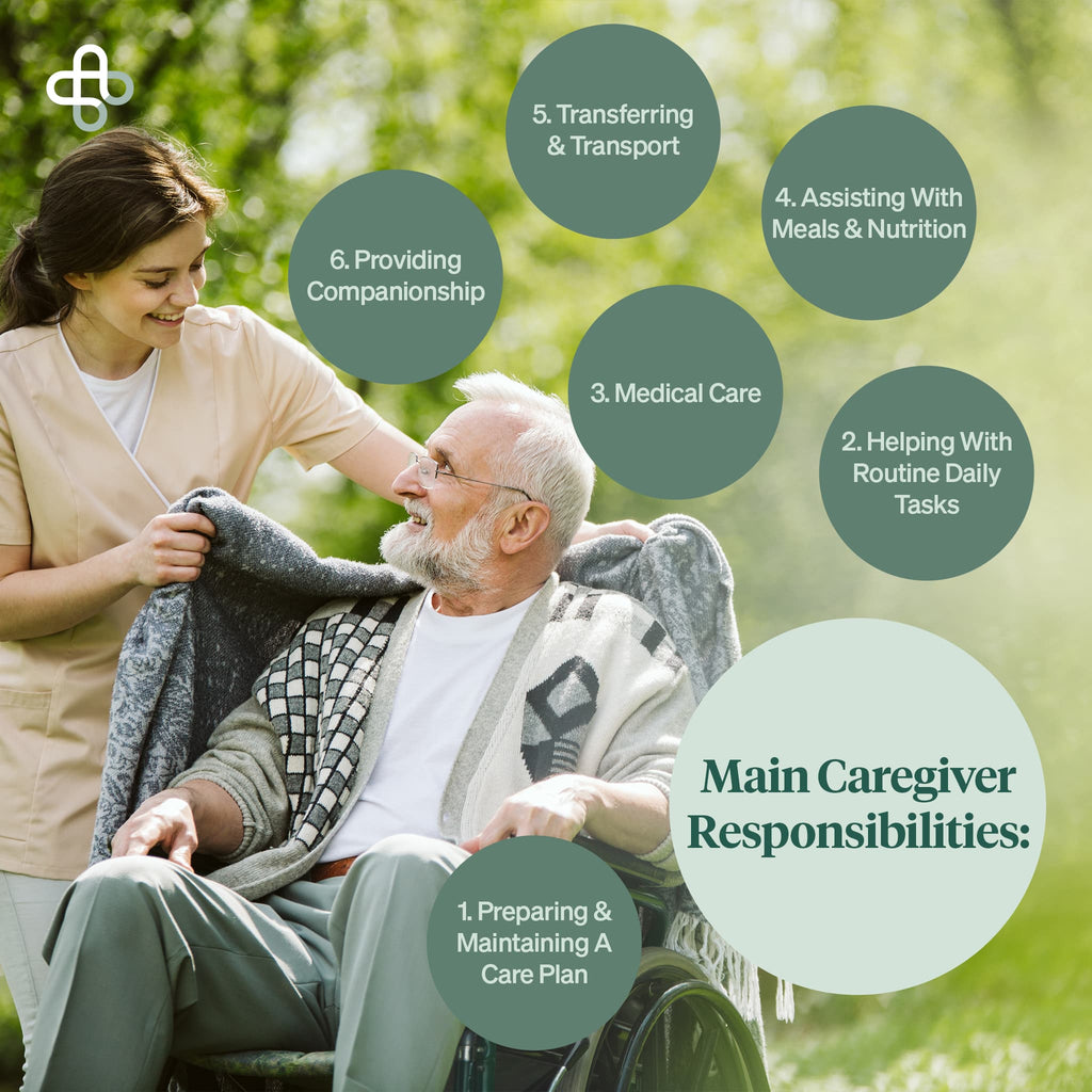 the main caregiver responsibilities listed