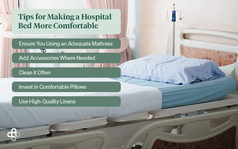 tips for making a hospital bed more comfortable