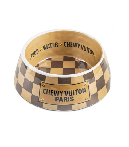 CHECKER CHEWY VUITON BOWL
