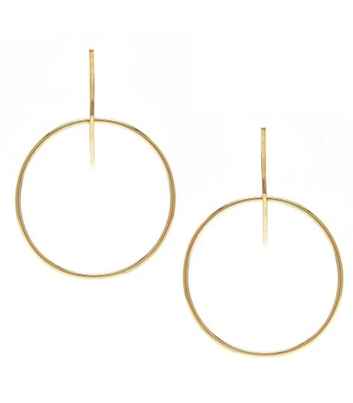 YOCHI FLOATING HOOP EARRING