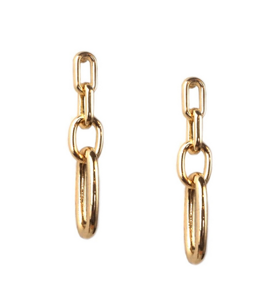 METAL LINK EARRINGS (2 COLORS)