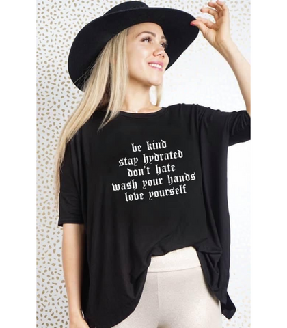 "GRAPHIC OVERSIZED MIM TEE ""BE KIND..."""