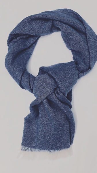 Night Blue cashmere scarf