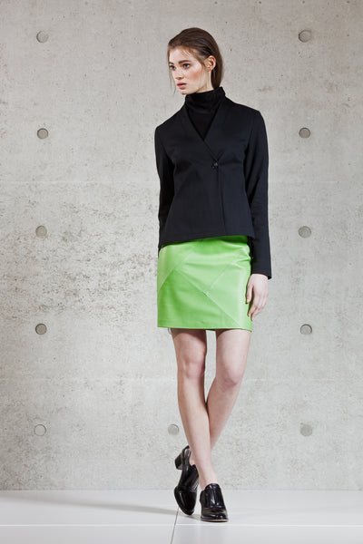 Elina leather skirt