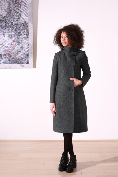 Perky coat grey