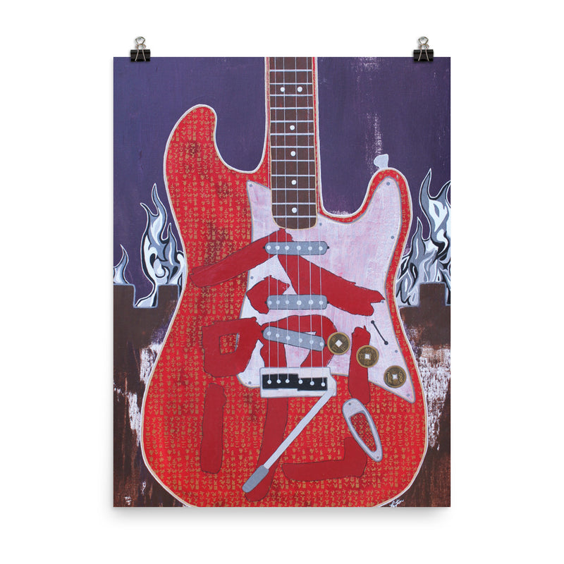 Jimi's Red House - Legends of Rock - Art Print
