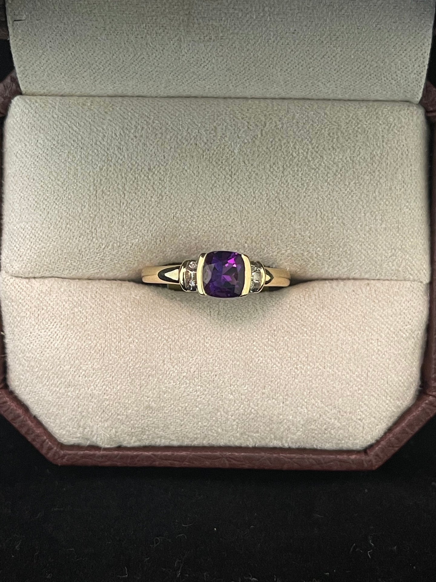 Amethyst w/ Diamond Ring
