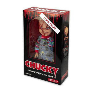 Mezco Child's Play Bride of Chucky Scarred Chucky Talking Doll - NEXTLEVELUK