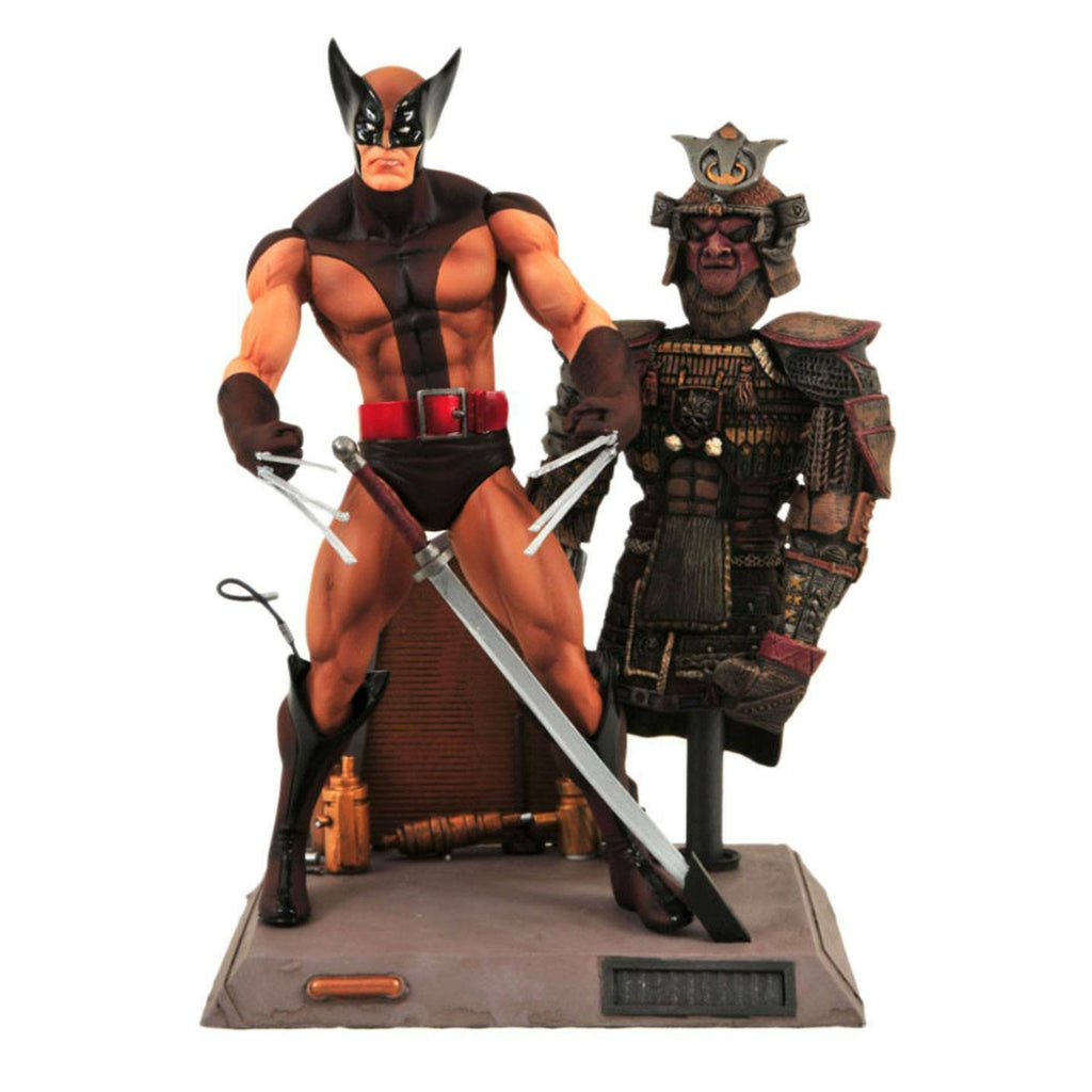 Marvel Select Wolverine Brown Costume with Samurai Dummy Figure