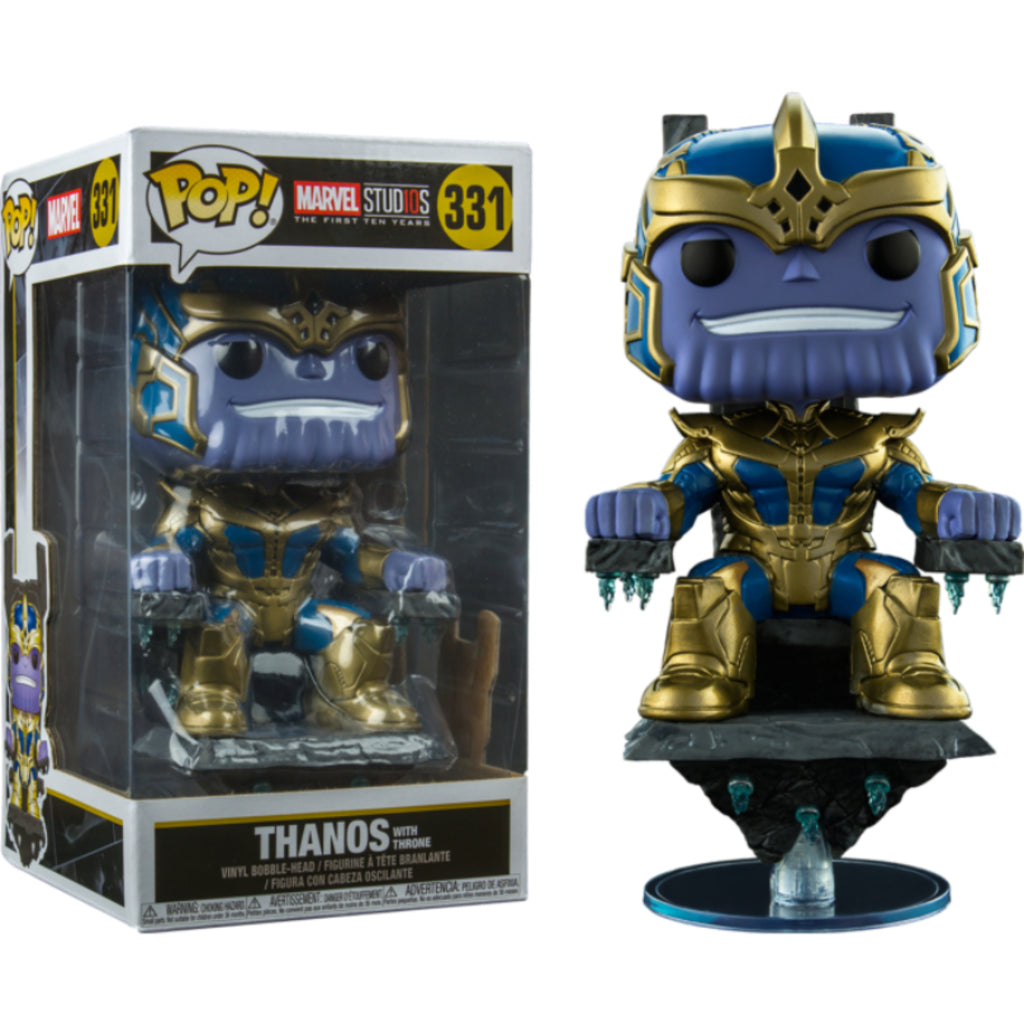 Marvel Studios The First Ten Years Thanos on Throne Deluxe Funko Pop! Vinyl DAMAGED OUTER BOX
