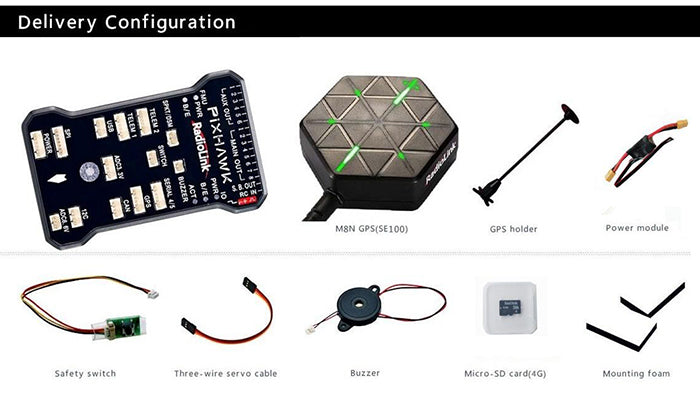 Radiolink Pixhawk Flight Controller with M8N GPS SE100 Combo