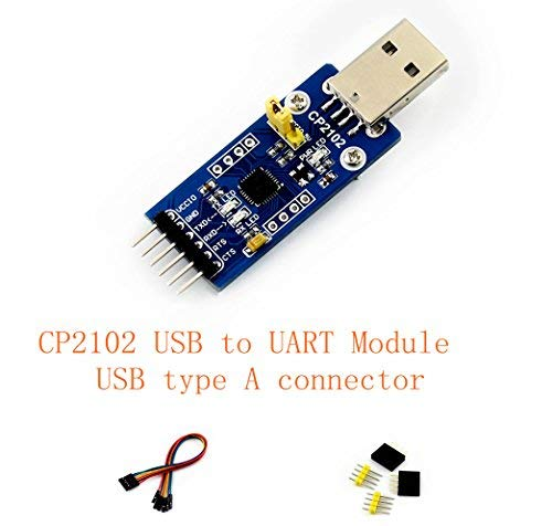 Venel CP2102 USB UART Board (type A) @pzsmocn CP2102 USB to UART Module, USB type A connector, the Single-Chip USB to UART bridge CP2102 onboard