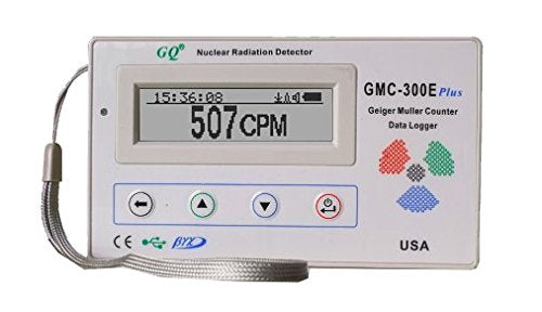 GQ GMC-300E-Plus Digital Geiger Counter Nulcear Radiation Detector Monitor Meter dosimeter Beta Gamma X ray data logger recorder realtime monitoring Europe