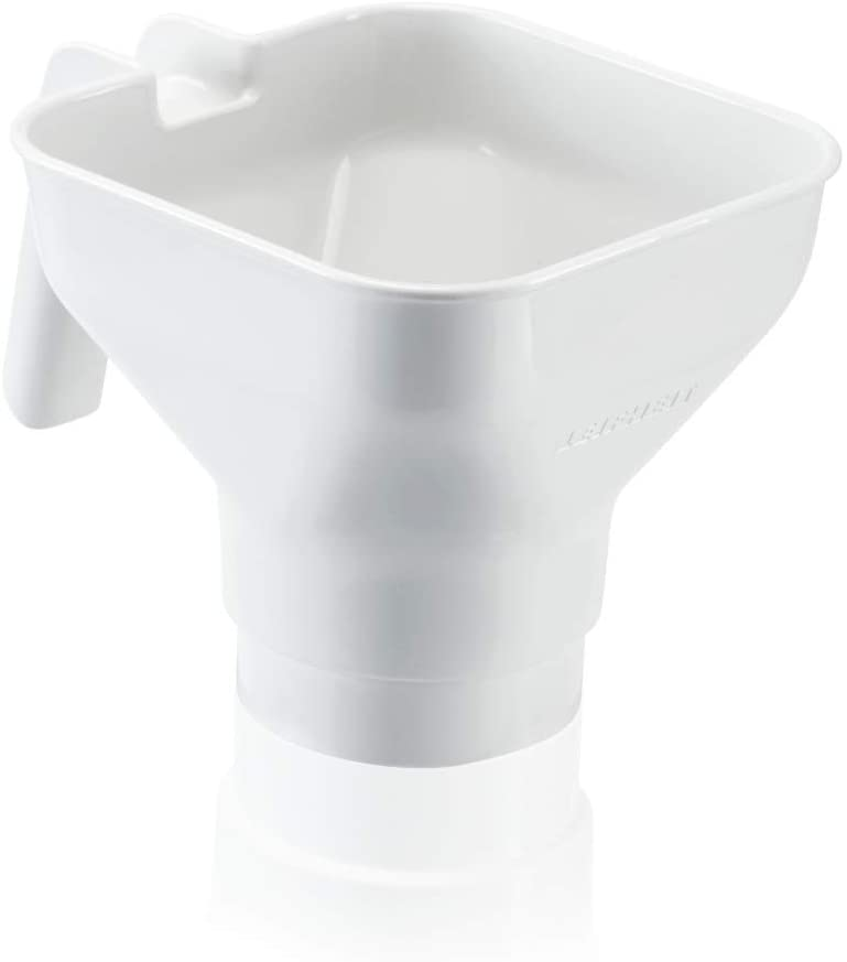 Leifheit 36500 Filling Funnel for Preserve Jars, Plastic, White