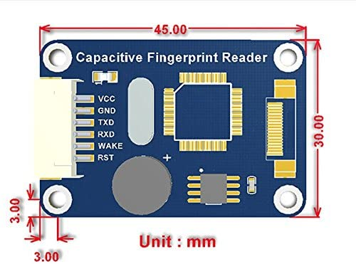 For Fingerprint Lock – Safe Deposit Box Fingerprint Access Control System, DIY Clock in and out and other Electronic Projects @ Cqrobot Capacitive Fingerprint Reader, Onboard Processor STM32 °F105.