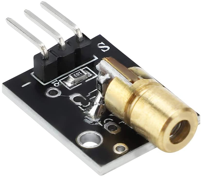 Laser Module, 5mW 650nm Laser Transmitter Module Red Dot Laser Diode Module for Laser Sensor Projects