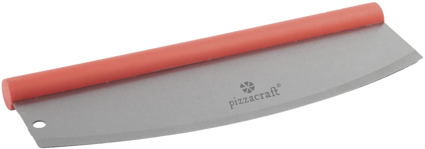 Pizzacraft Craft Soft Grip Handled Rocking Pizza Cutter-Red