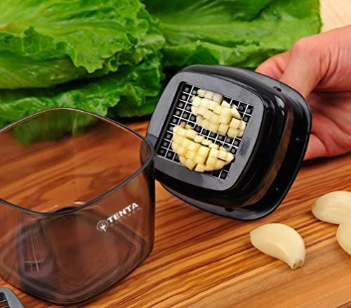 Tenta Kitchen Garlic Press, Garlic Crusher, Food Garlic Press Mini Chopper Mincer Slicer Dicer Grater Miniature Alligator Chopper Press (2 Sets Blades)