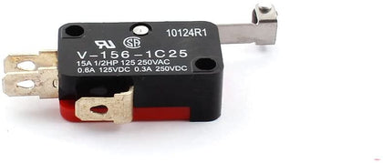 A14092400ux0149 Roller Hinge Lever NO NC Actuator Micro Limit Switch DC 125V 0.6 Amp 4 Piece 0.63 Inch Width 1.1inch Length