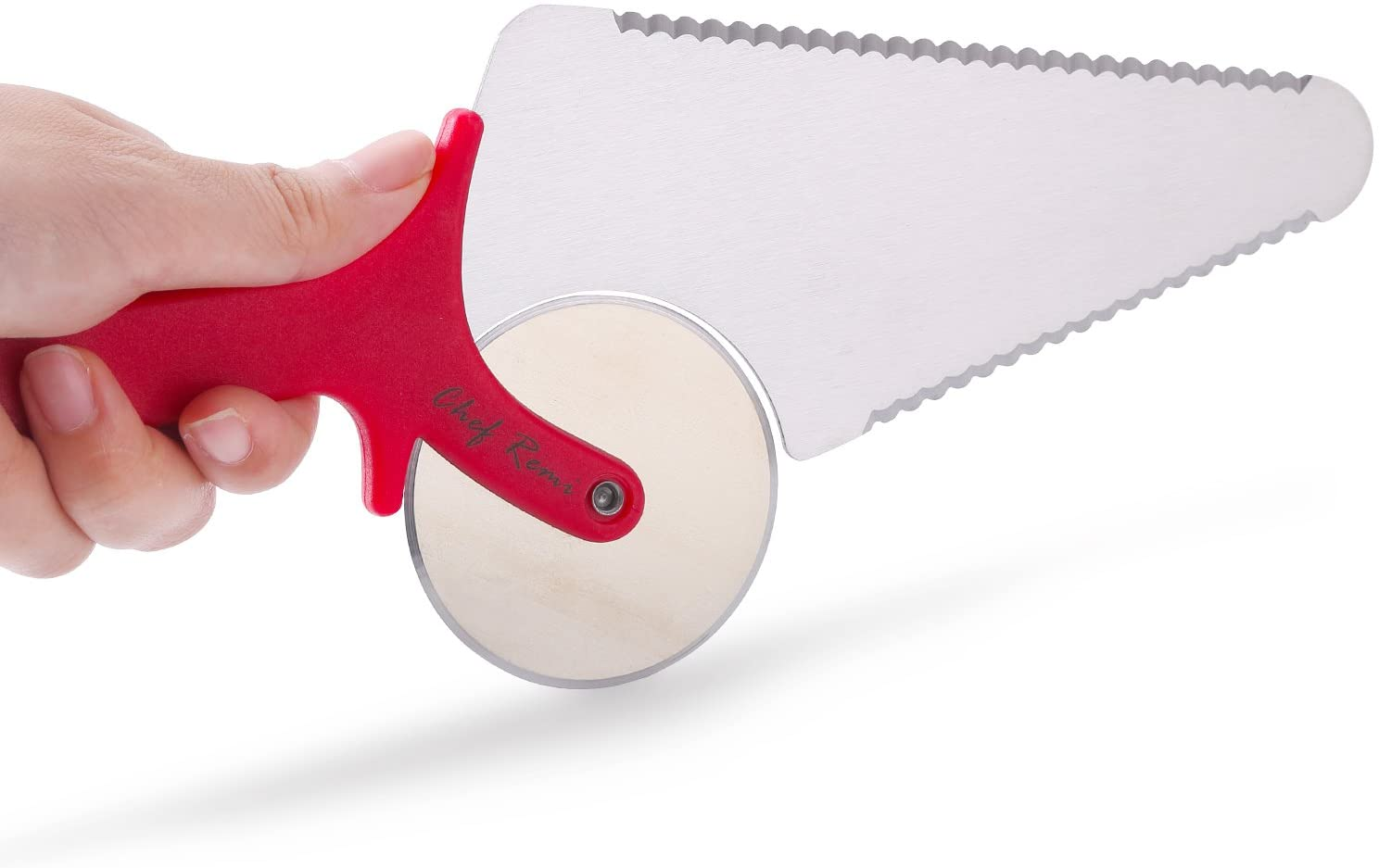 Latest Pizza Cutter -  Innovative 3-In-1 Pizza Cutter To Use On Pizza Stone, Pan Or Cutting Board - Super Sharp Stainle