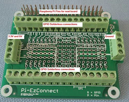 Alchemy Power Inc. - Pi-EzConnect - Raspberry Pi GPIO Connector. A HAT to connect GPIOs, sensors to a Raspberry Pi