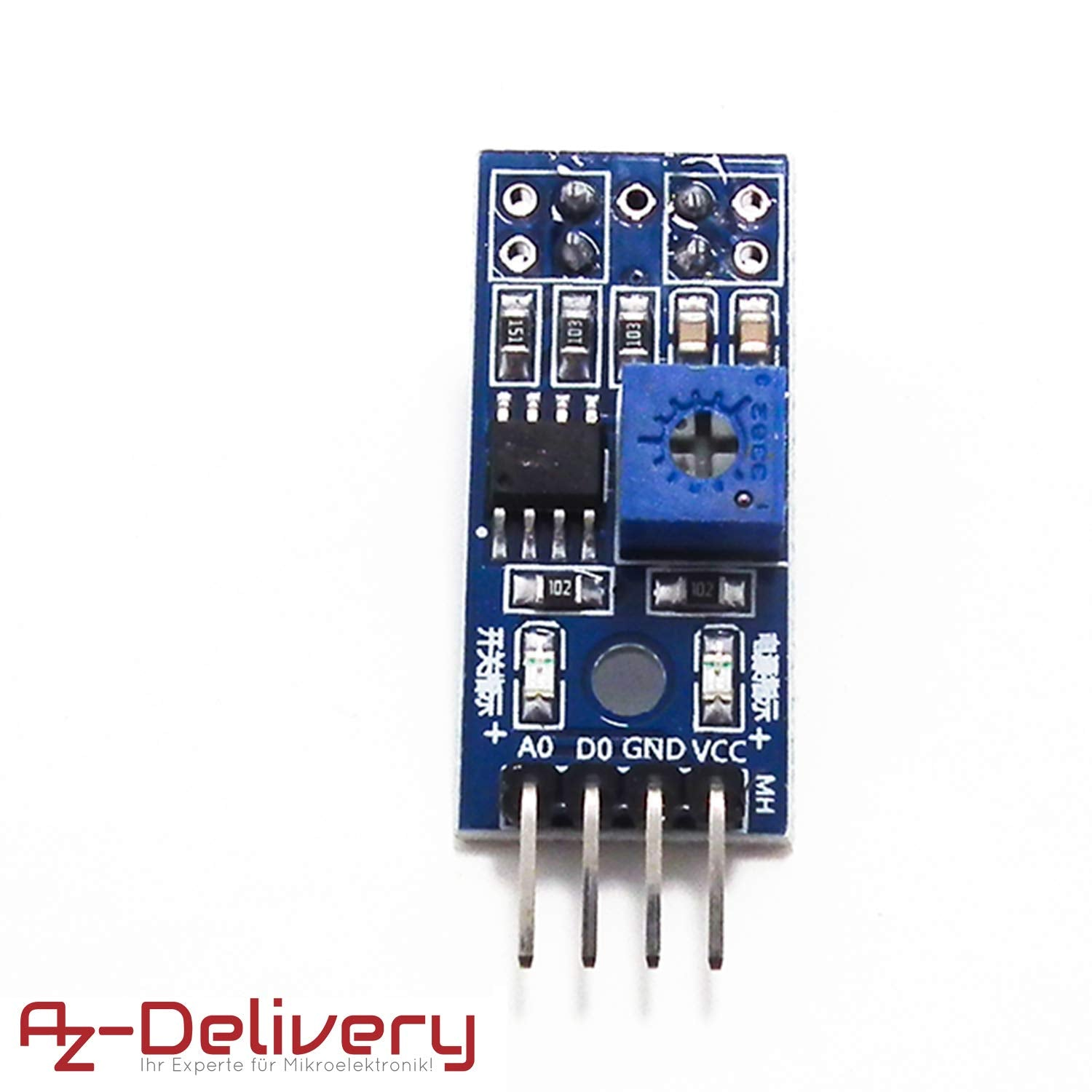 AZDelivery Set of 3 TCRT5000 IR Infrared Line Follower Obstacle Avoidance Module for Arduino including eBook