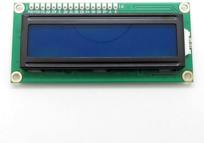 Generic 1602 16x2 Character LCD Display Adapter Module HD44780 Control Blue Backlight