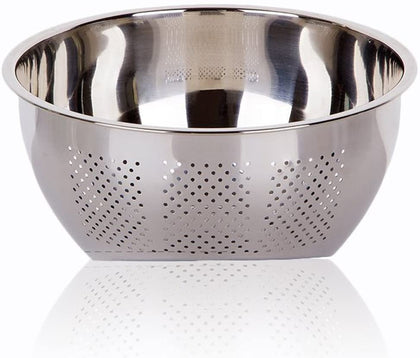 Joyoldelf Versatile 3-in-1 Rice Washing Bowl, Stainless Steel Colander and Kitchen Strainer with Side Drainers for Rice, Vegetables & Fruit