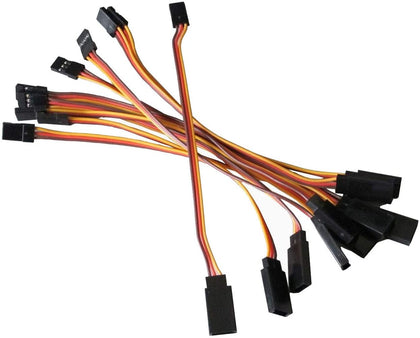 powerday®20pcs 15cm 150mm Male to Female JR Plug RC Servo Extension Lead Wire Cable