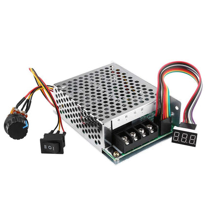 PWM DC Motor Governor 10V-55V 12V 24V 36V 48V 40A Motor Speed Control Module Controller with Shell and Display
