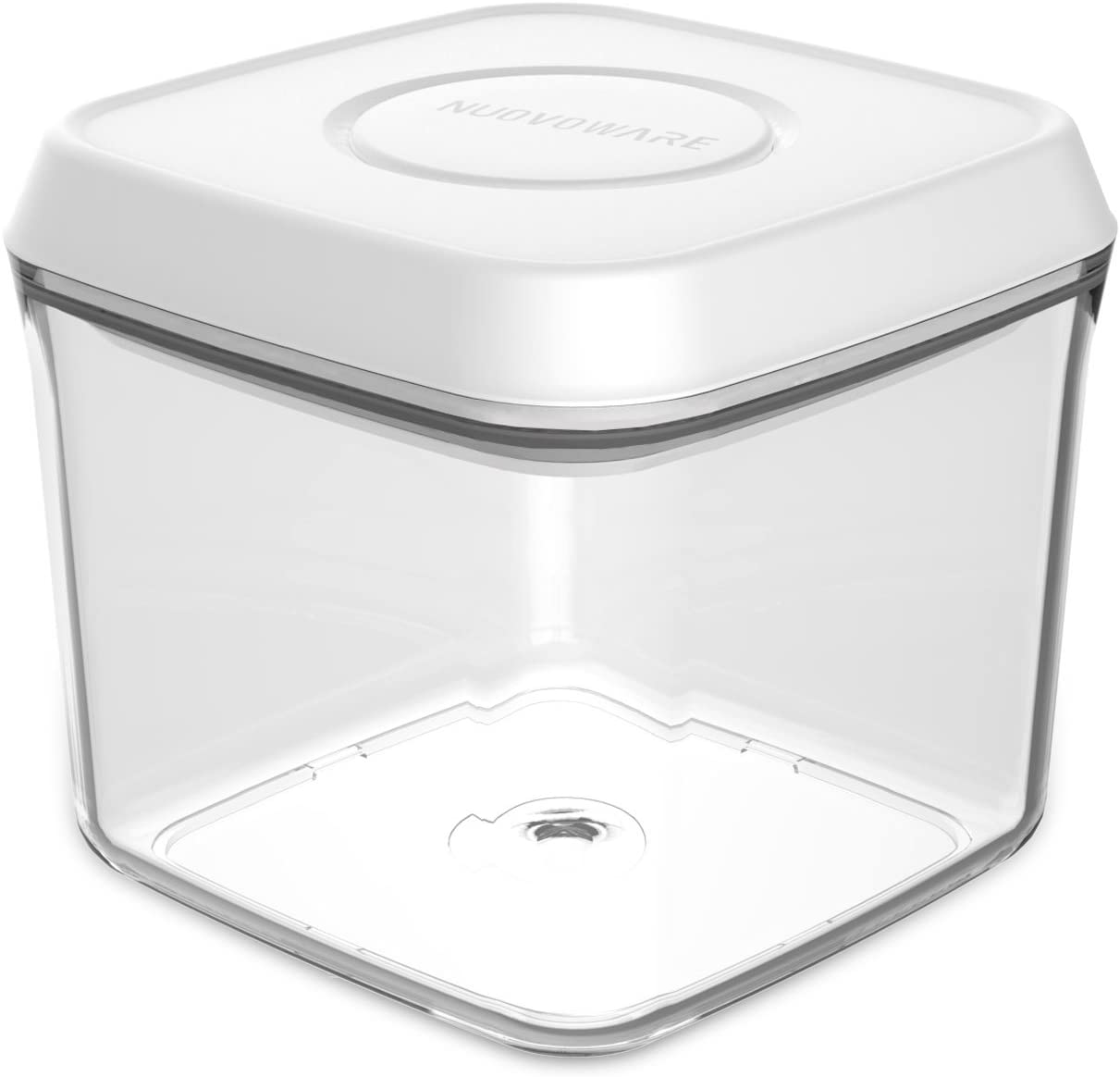Nuovoware 0.75 Quart Square Pop Container/Airtight Food Storage Container with Pop-up Button, Crystal Clear