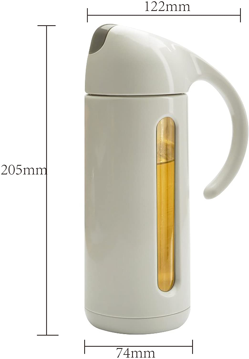 Olive Oil Dispenser Bottle for Kitchen-Glass Vinegar Sauce Condiment Container with Ergonomic Non Slip Handle & Automatic Stopper,Precision Spout–Kitchen Accessories (11 Oz / 320ml Grey)