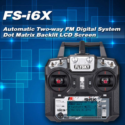 Flysky FS-i6X 10CH 2.4GHz AFHDS 2A RC Transmitter with FS-iA6B Receiver for RC Quadcopter