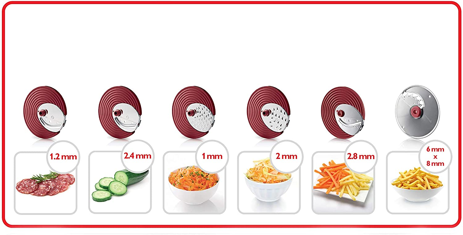 Philips Slicer and Chopper (6 Stainless Steel disc Inserts) HR1388/80