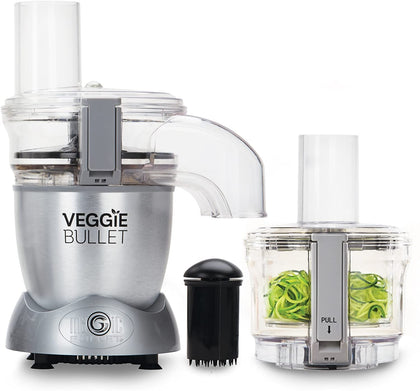 NutriBullet Veggie Bullet Electric Spiralizer/Shredder and Slicer, 500 W, Silver [Energy Class A]
