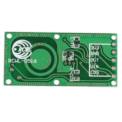 RCWL-0516 Microwave Radar Motion Sensor Module Body Induction Switch Module High Sensitivity Long Sensing Distance Wide Sensing Angle for Detecting Moving Objects Compatible with Arduino