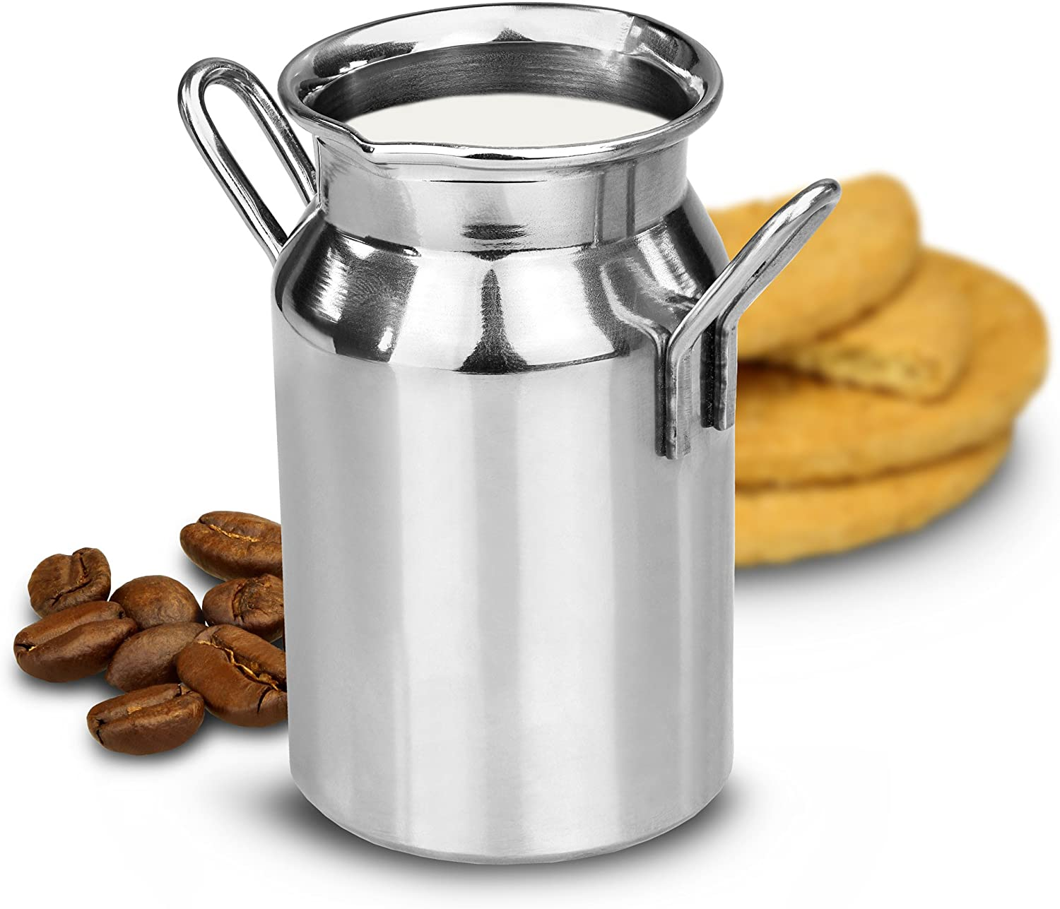Stainless Steel Mini Milk Churn - Novelty Milk Jug, Cream Tots