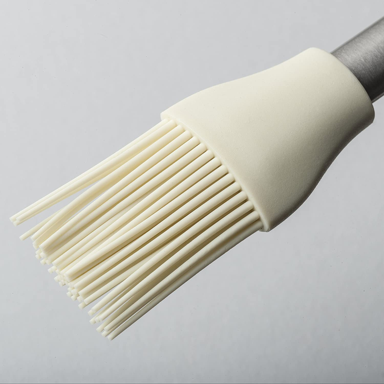 Zeal Pastry Basting Brush with Stainless Steel Handle, Silicone, Cream, 26 x 4 x 1.5 cm