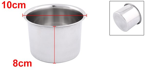 Stainless Steel Round Porridge Food Soup Dish Plate 10Cm Dia plate | soup | stainless | steel