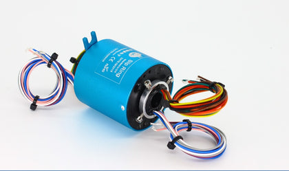 Senring Rotary joint slip ring 12.7mm gold contacts of 12 circuits 10A through bore slip ring