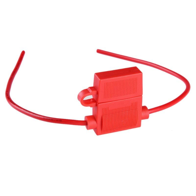 Medium Standard Waterproof ATO ATC Inline 16WAG Blade Fuse Holder Red High Quality Accessory