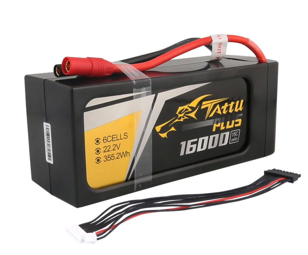 TATTU Lithium Battery 15c 16000 mah 22.2 v 6 s Large capacity multi-rotor hexa-rotor helicopter for agricultural UAV/UAV
