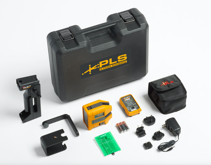 PLS Laser Kit: Cross Line and Point Red Laser with Rechargeable Battery Pack